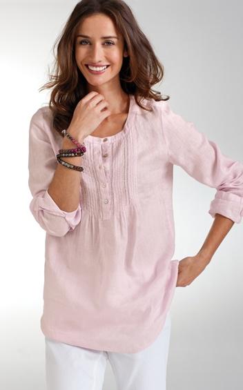J. Jill - linen blouse (rosewater)