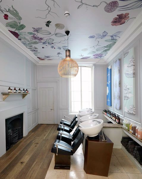14 03 salon decor interior design ideas 8. ceiling