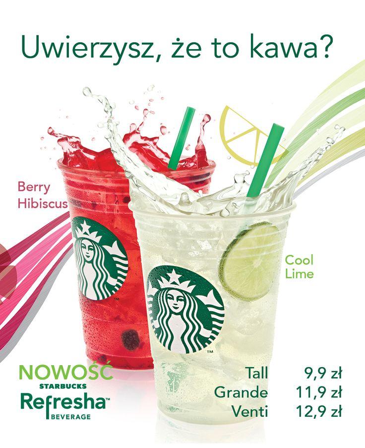 Spróbujcie nowych orzeźwiających smaków lata w kawiarni Starbuck's: Berry Hibiscus i Cool Lime.