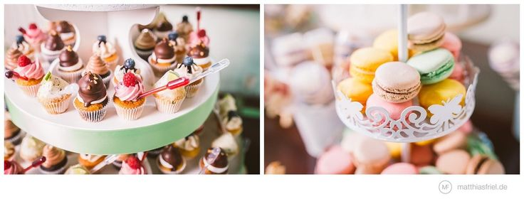 creative mini-cupcakes as part of the wedding cake & delicious macarons by tigertörtchen-berlin-märkisches-museum