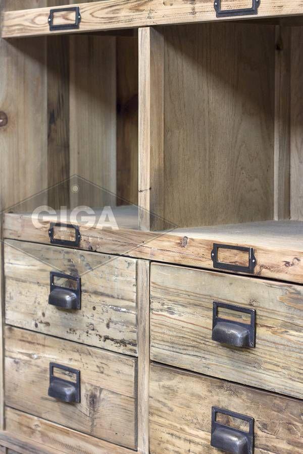 Buffetkast Metal Wood Industrieel