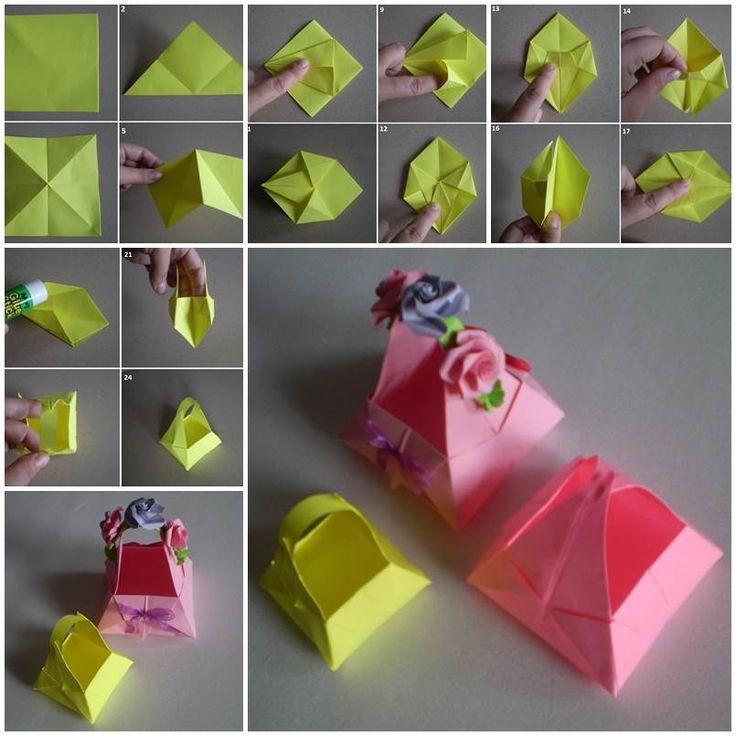 DIY Cute Little Origami Paper Basket  https://www.facebook.com/icreativeideas