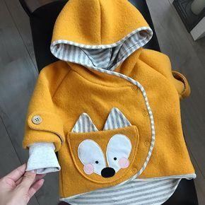 baby jacket aus Walkstoff genäht