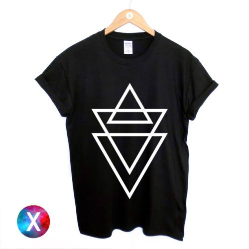 Triangle Print T Shirt Mens Printed Graphic Hipster Religion Swag TOP MAN   eBay
