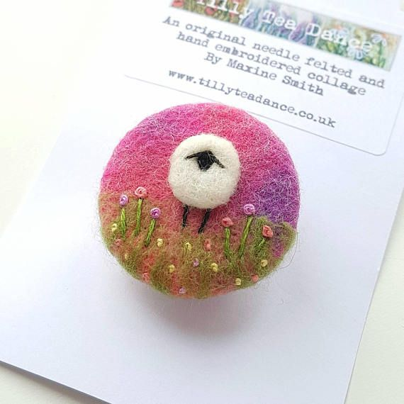 Check out this item in my Etsy shop https://www.etsy.com/uk/listing/468469999/sheep-brooch-in-needle-felting-and-hand