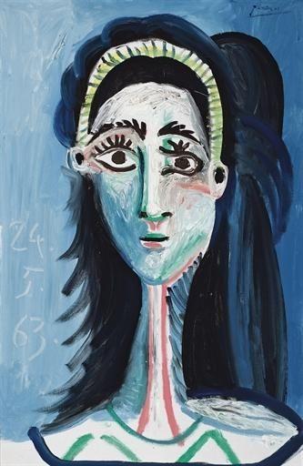 Jacqueline Roque (1927-1986) was de tweede vrouw van Pablo Picasso en zijn frequente model. Picasso bracht de laatste 20 jaar van zijn leven met haar door. In die tijd creëerde hij meer dan 400 portretten van haar. Ze hadden geen kinderen. Het leeftijdsverschil tussen Roque en Picasso bedroeg 46 jaar. Nadat Picasso was gescheiden van Françoise, begonnen ze hun relatie. Ze trouwden in 1961. Jacqueline doodde zichzelf met een geweer, dertien jaar na de dood van Picasso.-1963