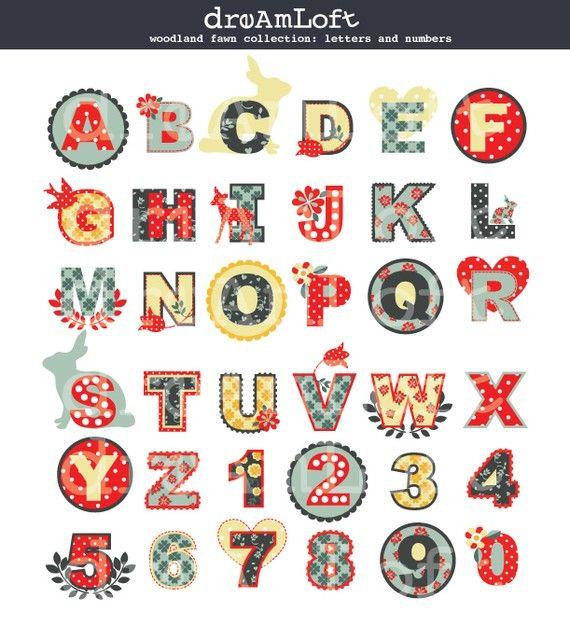 Woodland Fawn Alphabet
