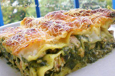 LASAGNES SAUMON- EPINARDS- ricotta-mozzarella