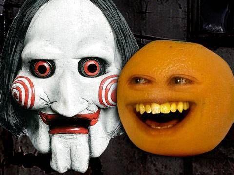 Annoying Orange - Annoying Orange Saw. Lol one of Little A's favorite episodes.