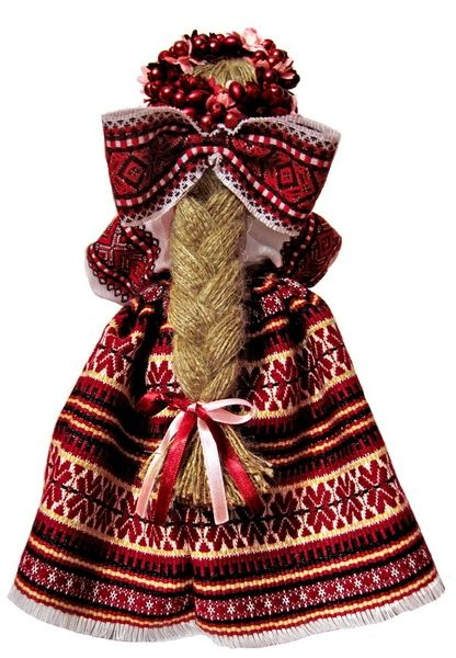 Авторська лялька-мотанка Лада (вид заду) / Авторская кукла-мотанка Лада (вид сзади)