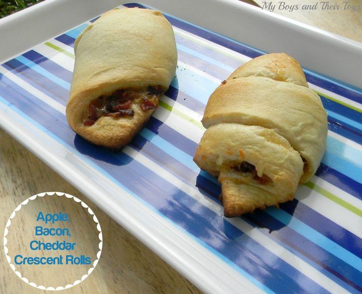Apple, bacon, cheddar crescent rolls