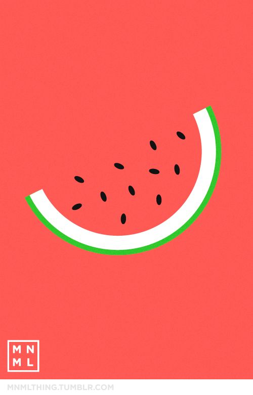 #11 watermelon - MNML THING http://mnmlthing.tumblr.com