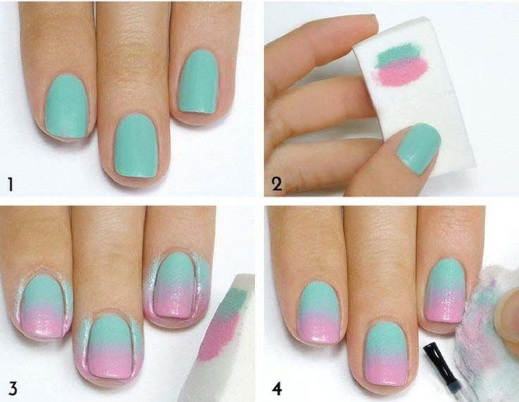 Resultado de imagen de ombre nails step by step