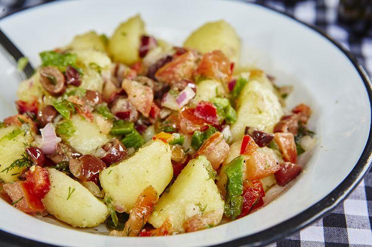 Πατατοσαλάτα με σως μουστάρδας | Potato salad with mustard sauce