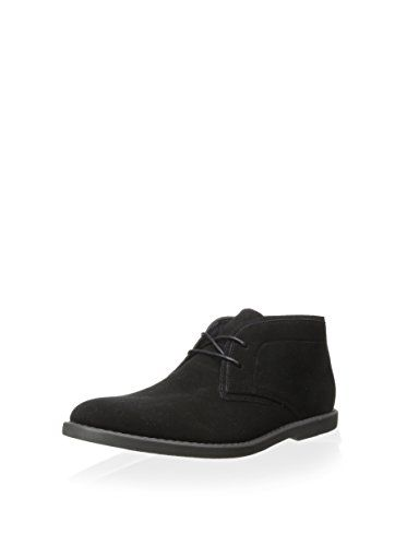 Calvin Klein Men's Flynn Chukka Boot (Black New Suede)