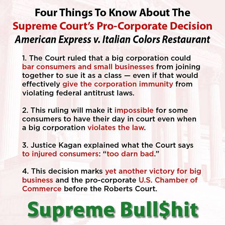 The Supreme Court issued a sweeping decision that gifted a wide spread of corporate immunity to the largest corporations - at the expense of small businesses and consumers.  Even worse than all that? Evening news ignored the decision. http://mm4a.org/19UrnQ1