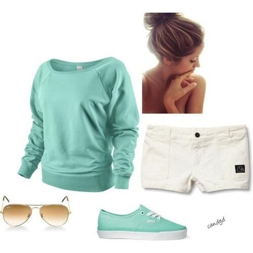simple and cute !! LOVE long sleeves with shorts for some reason!