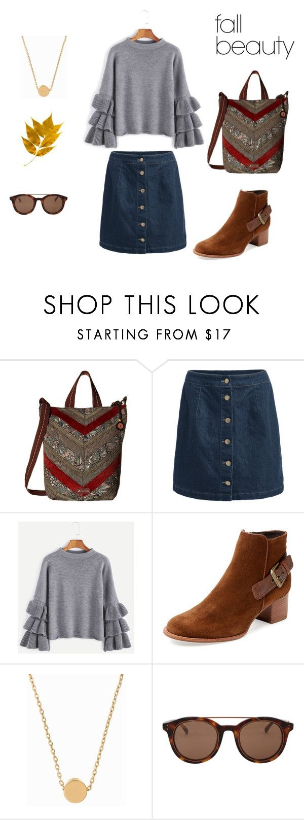 """""""Campus Tote sienna sd"""" by ljaeckel on Polyvore featuring Sakroots, Aquatalia by Marvin K., Minnie Grace and Linda Farrow"""