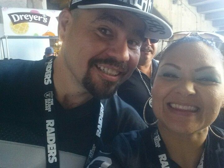 Raiders game in Oakland, we are season ticket holders