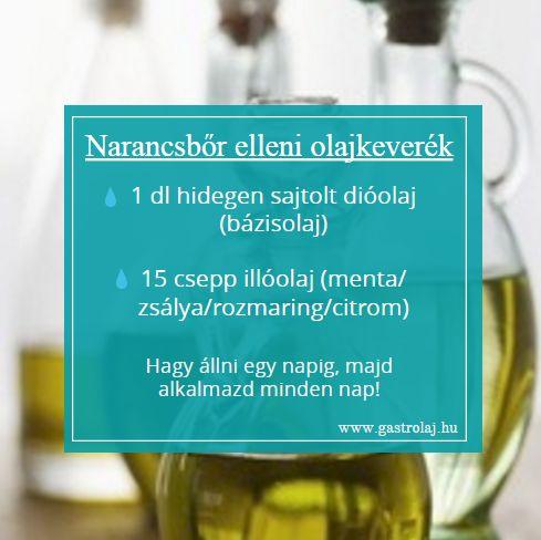Narancsbőr elleni olajkeverék