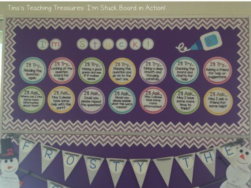 """the """"I'm Stuck"""" board- free! Helping students overcome """"I Don't get it"""" Syndrome"""