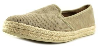 Clarks Azella Theoni Women Round Toe Suede Nude Espadrille.