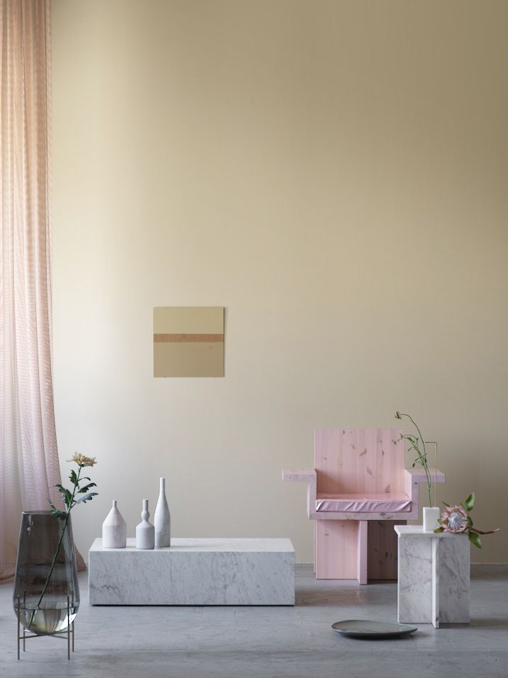 The Rocket curtain by Doshi Levien for Kvadrat, spotted in ELLE Decoration. Photo by Ragnar Omarsson