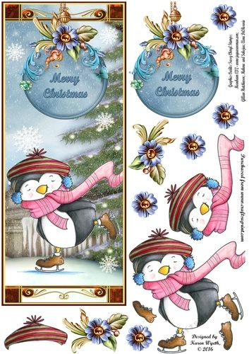 Penguin Gliding Christmas DL - CUP727528_1056 | Craftsuprint