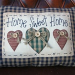 home sweet home country cushion.