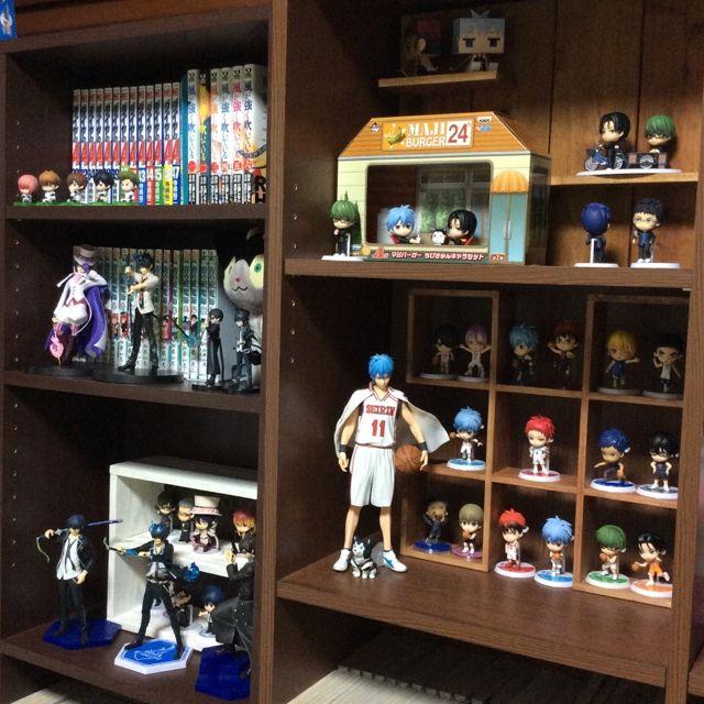 Sakuranekoさんの、雑貨,青の祓魔師,青エク,黒子のバスケ,すわらせ隊,黒バス,フィギュア収納,ダイヤのA,ちびきゅんキャラ,My Shelf,のお部屋写真