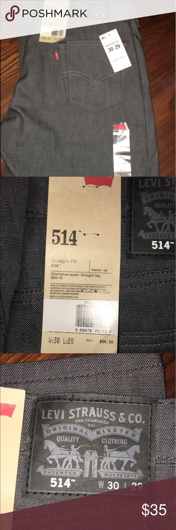 "Levi Strauss 514 Straight Fit grey jeans 30x29 NWT Levi Strauss 514 Straight Fit ""rigid grey"" jeans 30x29 Levi's Jeans Straight"