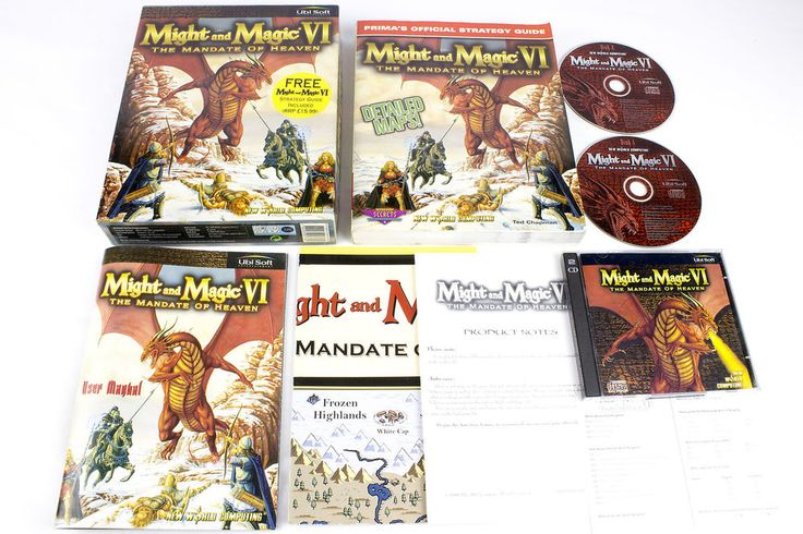 Might & Magic VI Mandate Of Heaven for PC by New World Computing, 1998, RPG
