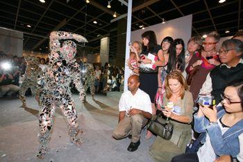Li Wei performing Mirror at the opening of ART HK 08, the Hong Kong International Art Fair, in May.