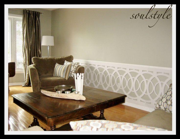 wainscottingDining Room, Living Rooms, Decor Ideas, House Ideas, Livingroom, Wainscoting Ideas, Wall Treatments, Room Ideas, Modern Wainscoting