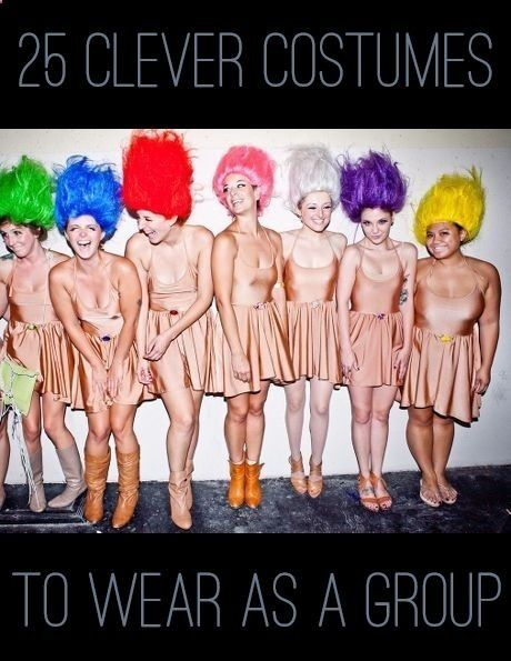 25 Clever Halloween Costumes To Wear As A Group - DIY Ideas 4 Home