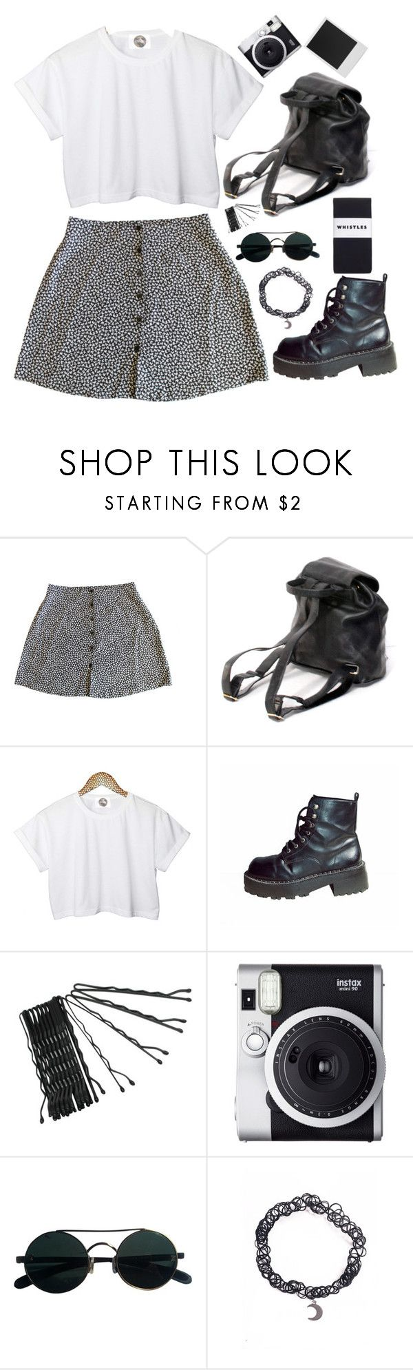 """""""90's grunge"""" by wtf-towear ❤ liked on Polyvore featuring CC, Conair, Fuji, Polaroid, Whistles, women's clothing, women's fashion, women, female and woman"""