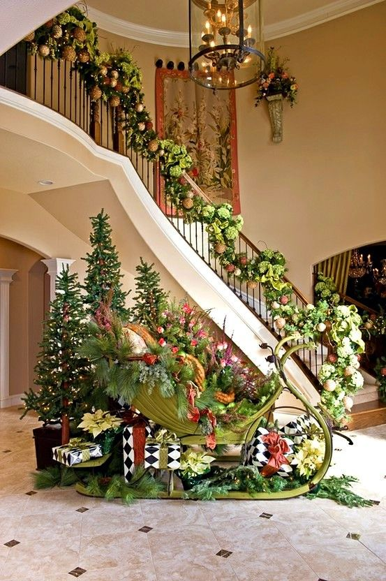 Christmas stairway☃☃☃: Ideas, Christmas Time, Christmas Decorations, Wonderful Time, Holidays, Christmas Idea, Merry Christmas