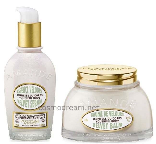 серум и бальзам для тела L'Occitane En Provence Almond Velvet Collection