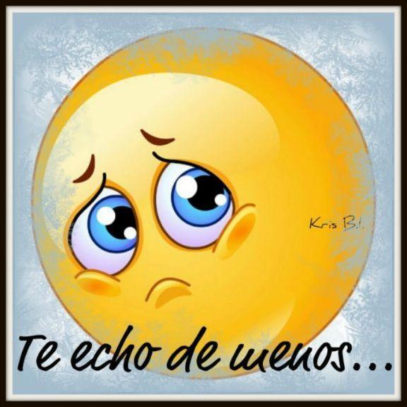 Emoticono triste: Te echo de menos... - Imagenes y Carteles