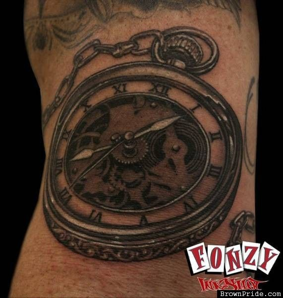 Time Piece Tattoo by Fonzy / Greaskull Tattoo Alley