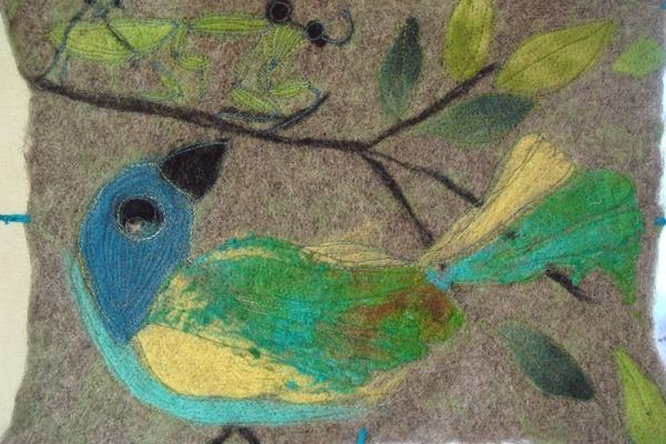 birdie food. A felted piece