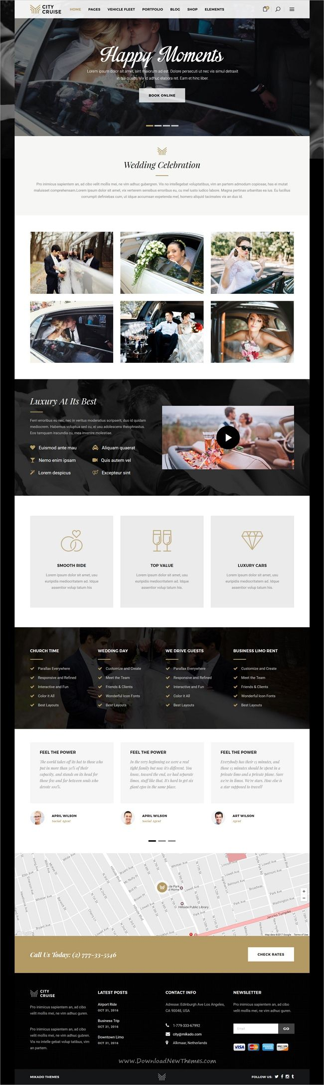 City cruise is elegant and modern design 3in1 responsive #WordPress theme for #wedding #limousine and #car rental service agencies website download now➩ https://themeforest.net/item/city-cruise-a-limousine-and-car-rental-theme/19746171?ref=Datasata
