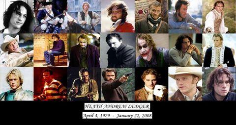 '22/01/2015... Sete anos sem Heath Ledger! :'(  Lembrando a Filmgrafia de Heath..... Apesar da pouca idade, deixou filmes memoráveis, inesquecíveis Emoticon heart  1988 – Home and Away (filme para TV) 1992 – Clowning Around 1993 – Ship to Shore (filme para TV) 1996 – Sweat (filme para TV) 1997 – Roar (filme para TV) 1997 – PC: Digitando Confusões (Paws) 1997 – Bush Patrol (filme para TV) 1997 – Assassinato em Blackrock (Blackrock) 1999 – 10 Coisas Que Eu Odeio Em Você (10 Things I Hate About…