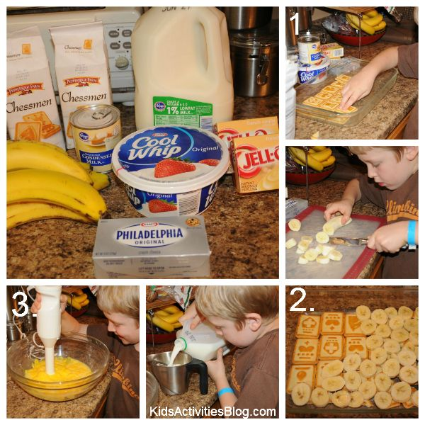 Banana Pudding Recipe with kids help