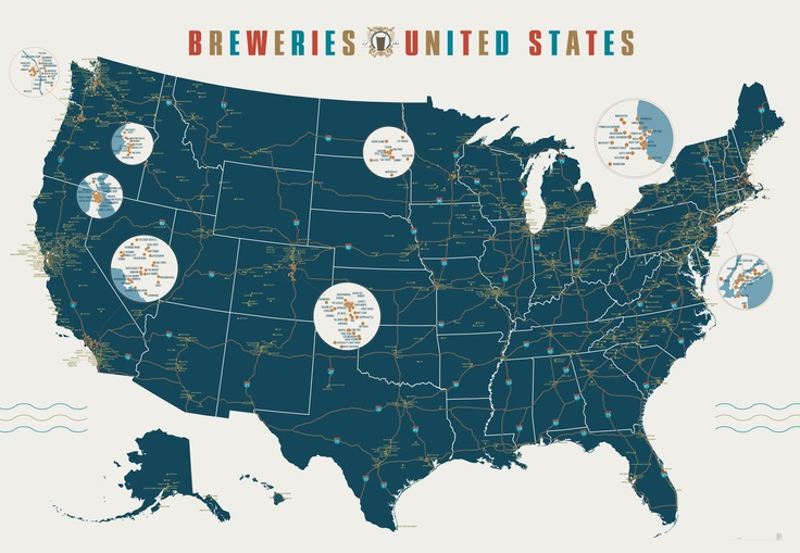 Breweries of the United States, via Pop Chart Lab. I smell a road trip in the making. Click through to zoom! [GM]