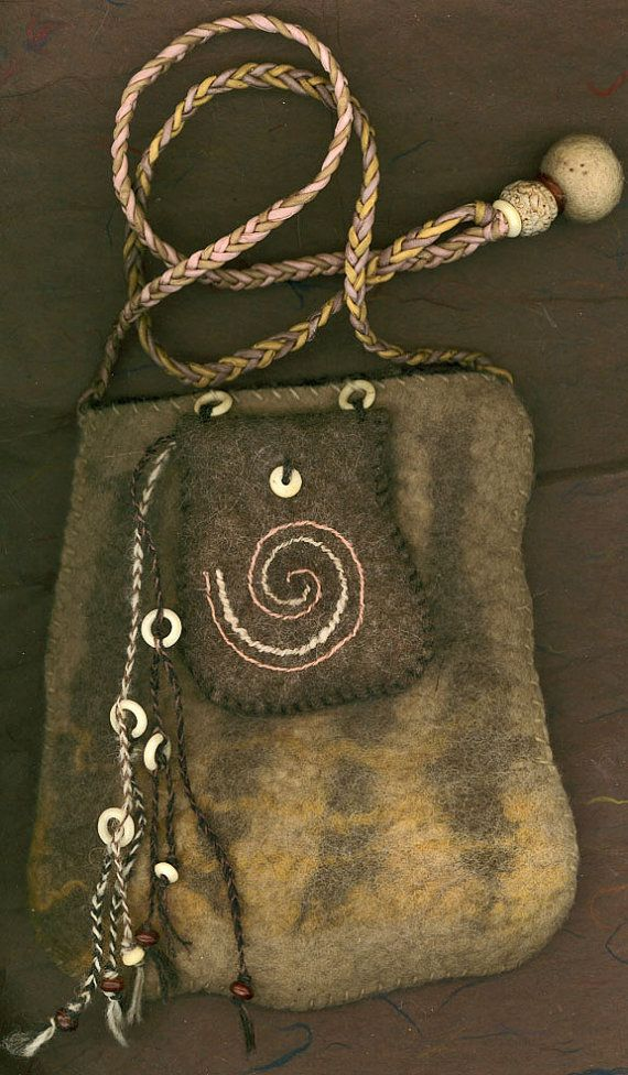 Nomad  wet felted bag ♡ by ThistleWoolworks on Etsy