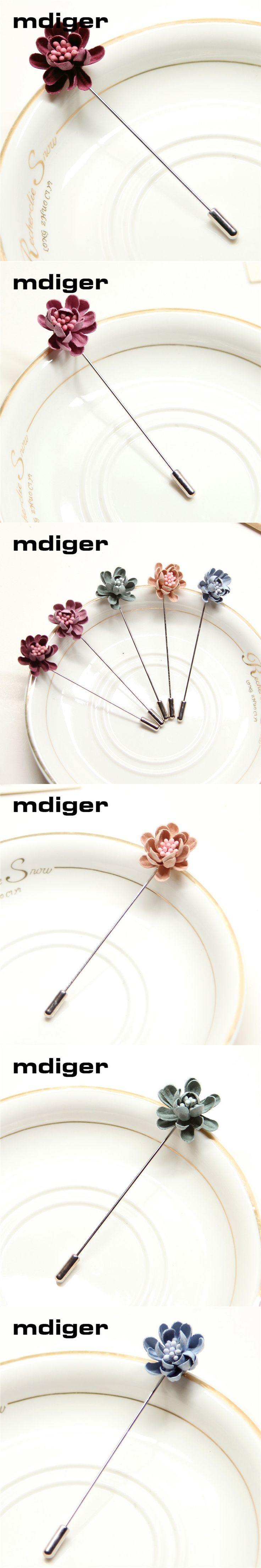 Mdiger Fabric Flowers Brooch Pins Handmade Corsage Suits Accessories Multilayers Brooches Boutonniere Fashion Jewelry
