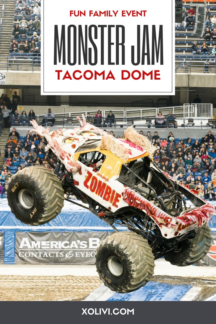 Fun family event at the Tacoma Dome - MONSTER JAM! Click through to see more details