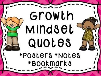 Growth Mindset Quotes Posters--Growth Mindset Quotes Notes