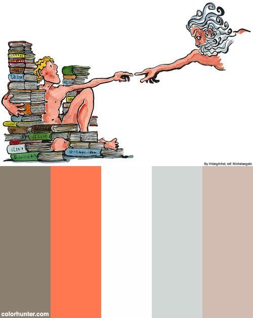 Michelangelo-adam-version-hikingartist Illustration Color Scheme